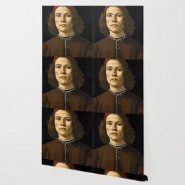 "Sandro Botticelli ""Portrait of a Young Man"" (II) Wallpaper"