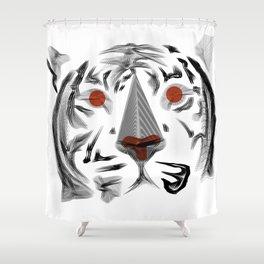 Moirè Tiger Shower Curtain