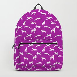 Greyhound Silhouettes on Pink B41AAA Backpack