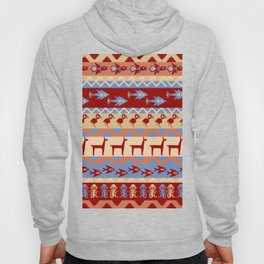 Inca Animals Fish and Birds Pattern Hoody