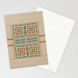 Relaxing Color Tone Pattern Design Stationery Cards