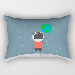 The boy on the moon Rectangular Pillow