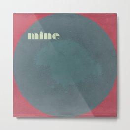 my bluey-grey circle work Metal Print
