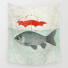 Umbrella Goldfish Wall Tapestry