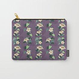 Moonflower vine pattern in dusky purple Carry-All Pouch