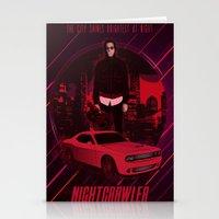 nightcrawler Stationery Cards featuring Nightcrawler by Anton Yeroma