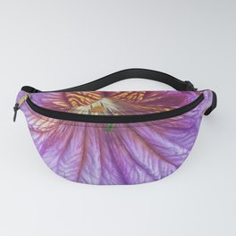 Purple Salpiglossis Floral Fanny Pack