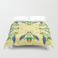 bug Duvet Covers featuring Bug by MinaSparklina