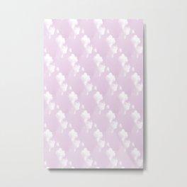 Pink Cloudy Sky Metal Print