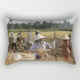 Rice Field Rectangular Pillow