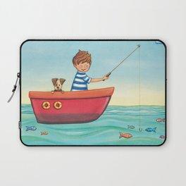 Happy Fishing Day Laptop Sleeve