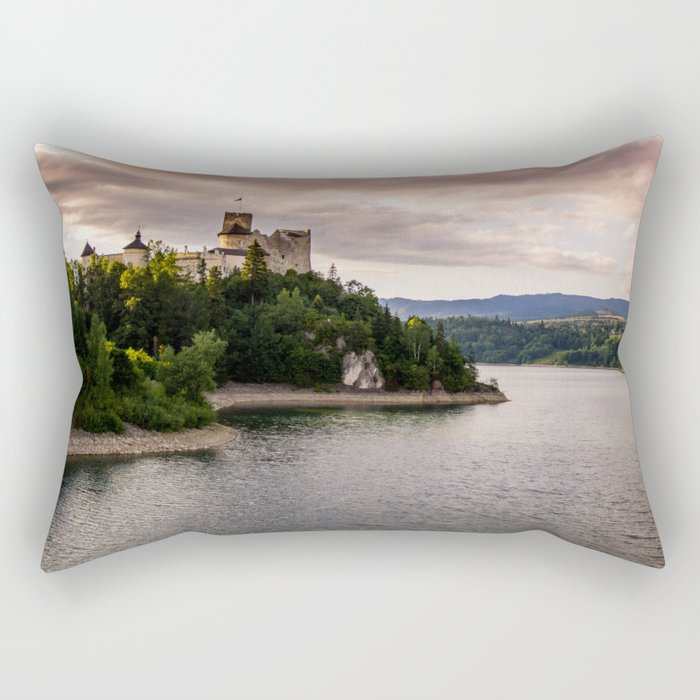 Dunajec Castle In Niedzica Rectangular Pillow