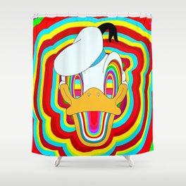 Rainbow cute Dizzy Donald Shower Curtain