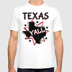 Texas State Y'all Mens Fitted Tee White SMALL