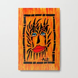 Lion Face Metal Print