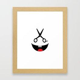 Monster barber #society6 #decor #buyart #artprint Framed Art Print