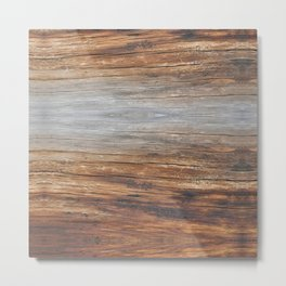 wood 4a Metal Print