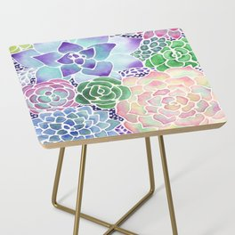 Masked Flora Collection Succulents Side Table