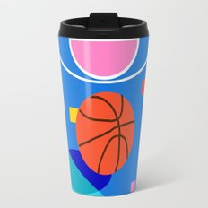 Shot Caller - memphis retro basketball sports athletic art design neon throwback 80s style Travel Mug