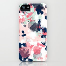Lola - Painted abstract trendy color palette minimal decor nursery home iPhone Case