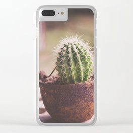 Tiny Cactus Clear iPhone Case