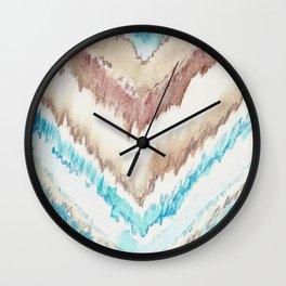 Frozen Chevron Wall Clock