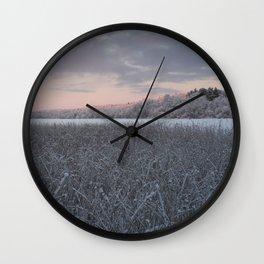 Frozen Sedge Wall Clock