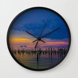Pelicans 2 Wall Clock