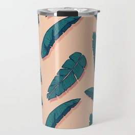 Falling Blue Leaves #society6 #decor #buyart Travel Mug