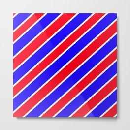 TEAM COLORS ONE RED,WHITE,BLUE Metal Print