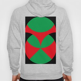 A beautiful martian green and red flower, coming out from a round horizon. Hoody