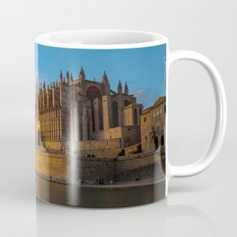 Day to night on Cathedral of Palma de Mallorca Coffee Mug