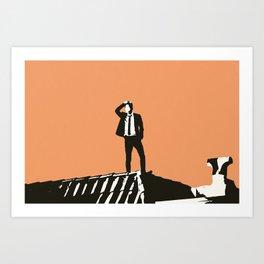 Dream Sequence Orange Art Print