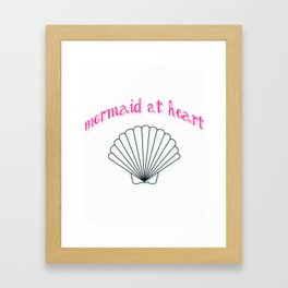 Mermaid At Heart Framed Art Print