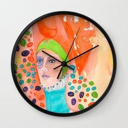 Long Neck Orange Lady Wall Clock