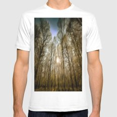 The Forest Sunset Art MEDIUM Mens Fitted Tee White