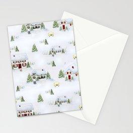 Winter Wonderland Village Stationery Cards