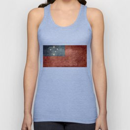 Samoan national flag - Vintage retro version to scale Unisex Tank Top