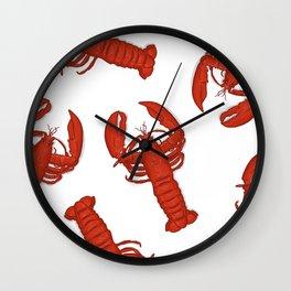Lobster illustration print Wall Clock