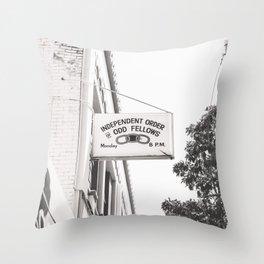 odd fellows Throw Pillow
