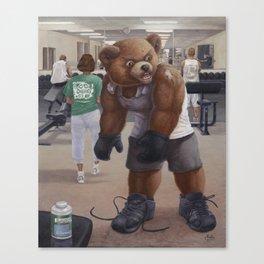 Bodybuilder Teddy Canvas Print