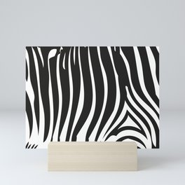 Zebra Stripes | Animal Print | Black and White | Mini Art Print