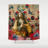 fullmetal alchemist Shower Curtains featuring Saints Collection -- The Alchemist by Elo Marc