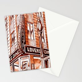 Lovers Diner Stationery Cards