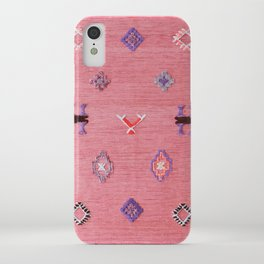 Pink Oriental Traditional Boho Moroccan Style Design Artwork iPhone Case