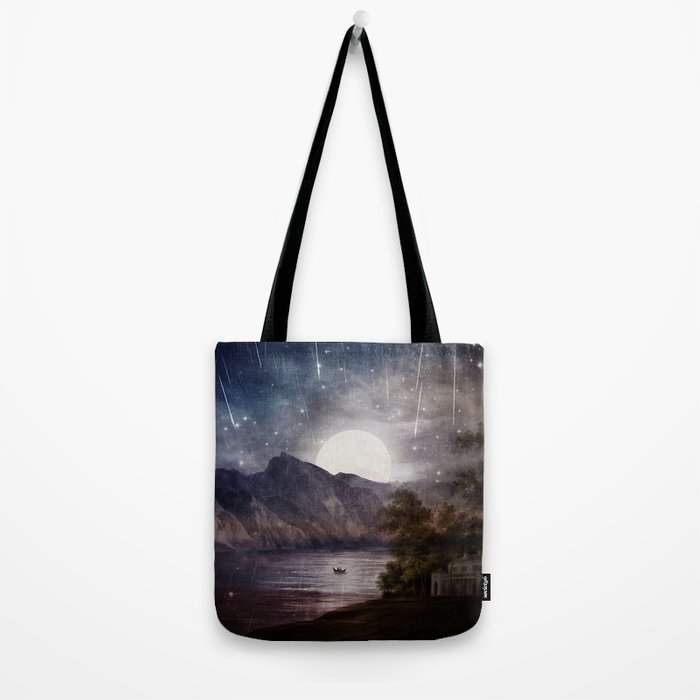Love under A Wishing Star Sky Tote Bag