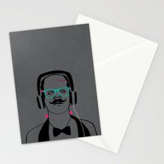 Hipsterstein /gray Stationery Cards
