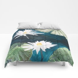 White Water Lilies Comforters