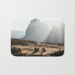 Sunrise at Alpe di Siusi Bath Mat