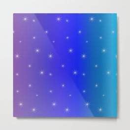 Starry Starry Blue Night Metal Print
